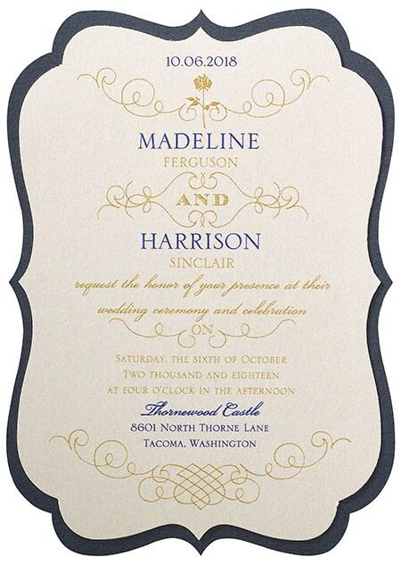 Belle Luxurious Rose Invitations