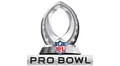 The 2020 Pro Bowl logo featuring a football on a base with the NFL shield and 'PRO BOWL' at the bottom